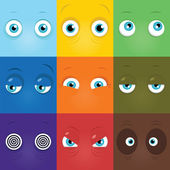 Monster eyes — Stock Vector