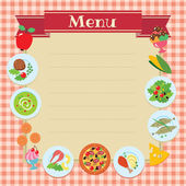 Cafe or restaurant menu template — Stock Vector