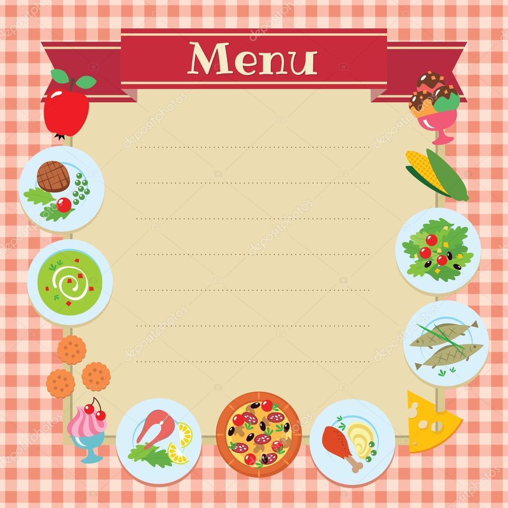 printable menus template - android-app.info