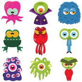 Cartoon monsters set — Stock Vector