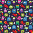 Vector de stock : Monster pattern