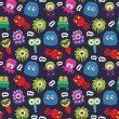 Monster pattern — Vector de stock #32270855
