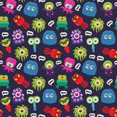 Monster pattern — Vettoriale Stock