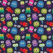 Monster pattern — Vettoriale Stock