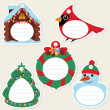 Stock Vector: Christmas gift tags