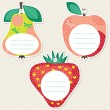 Stock Vector: Fruit gift tags