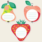 Fruit gift tags — Stock Vector