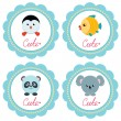 Cute baby cards — Vector de stock