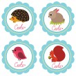Cute baby cards — Stockvektor