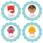 cartes de bébé mignon — Vecteur #47940791