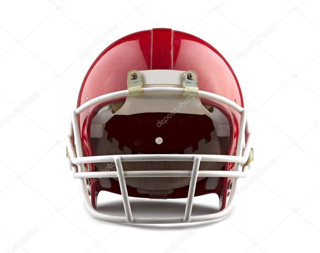 casque de football am ricain rouge isol sur fond blanc avec photographie bombaert 12767448. Black Bedroom Furniture Sets. Home Design Ideas