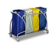 The hotel cleaning tool cart isolated — Stock Photo