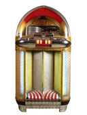 Old jukebox music player isolated on white background — Stock Photo