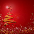 Stock Photo: Modern abstract christmas tree background,