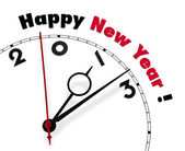 White clock with words New year 2013 — Stock Photo