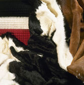 Products from natural fur — Stock Photo