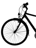 Silhouette of a bike isolated ( clipping path) — Foto Stock