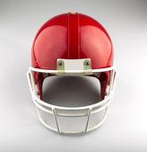 Red American football helmet — Stock Photo