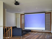 Home Theater in apartment — Foto de Stock