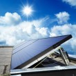 Stock Photo: Solar panel against blue sky