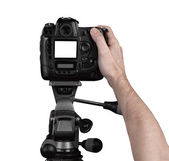 Professionele fotograaf in studio — Stockfoto