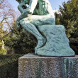 图库照片: Thinker Statue by French Sculptor Rodin