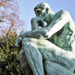 Thinker Statue by French Sculptor Rodin — Foto Stock #41020417