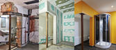 Renovation and construction of Drywall-Plasterboard in a bathroo — Stock Photo