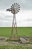 Windmill and cloudy sky — Foto Stock