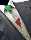 Wedding dress with flag Italy on tie — Stockfoto
