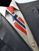 婚纱与国旗挪威领带 — 图库照片