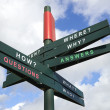 Questions and Answers signpost — Stock Photo
