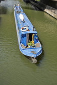 Boats on the Regents Canal at Little Venice in London, England — Stock Photo