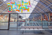 Restored and redeveloped St Pancras International rail station — Stock Photo