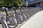 City Bike docking station in Brussels — Stock Photo