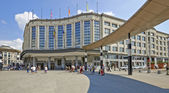 Exterior of Brussels central main railway station — Stock Photo