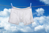 White underwear on a string — Photo