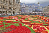 Giant carpet at Grand Place in Brussels — Stock Photo