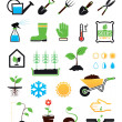 Gardening icons set — Stock Vector #12851776