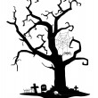 Royalty-Free Stock Vector Image: Spooky silhouette of tree