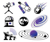 Astronautics and Space Icons — Stock Vector