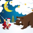 Royalty-Free Stock Imagen vectorial: Santa The Hunter