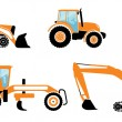 Stock Vector: Heavy machines