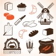 Royalty-Free Stock  : Bread theme icons