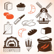 Royalty-Free Stock Vector: Bread theme icons