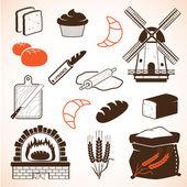 Bread theme icons — Stock Vector