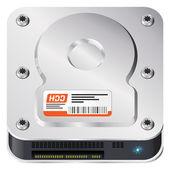 Hard disk — Stock Vector