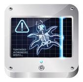 Bug scanner — Stock Vector
