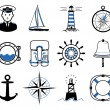 Sea Sailing icons set — Stock Vector #24270421