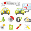 Royalty-Free Stock Vector Image: Cute car set